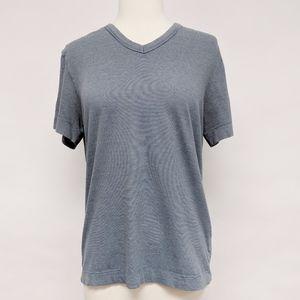 theory | blue micro stripe v-neck short sleeve tee